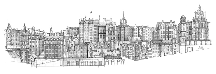Old Town Edinburgh Panoramic